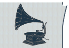 illustration gramophone